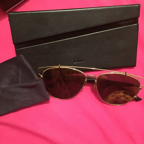a79a8d6986ead 100% GENUINE Dior technologic sunglasses 😊 in PERFECT Gold - Depop