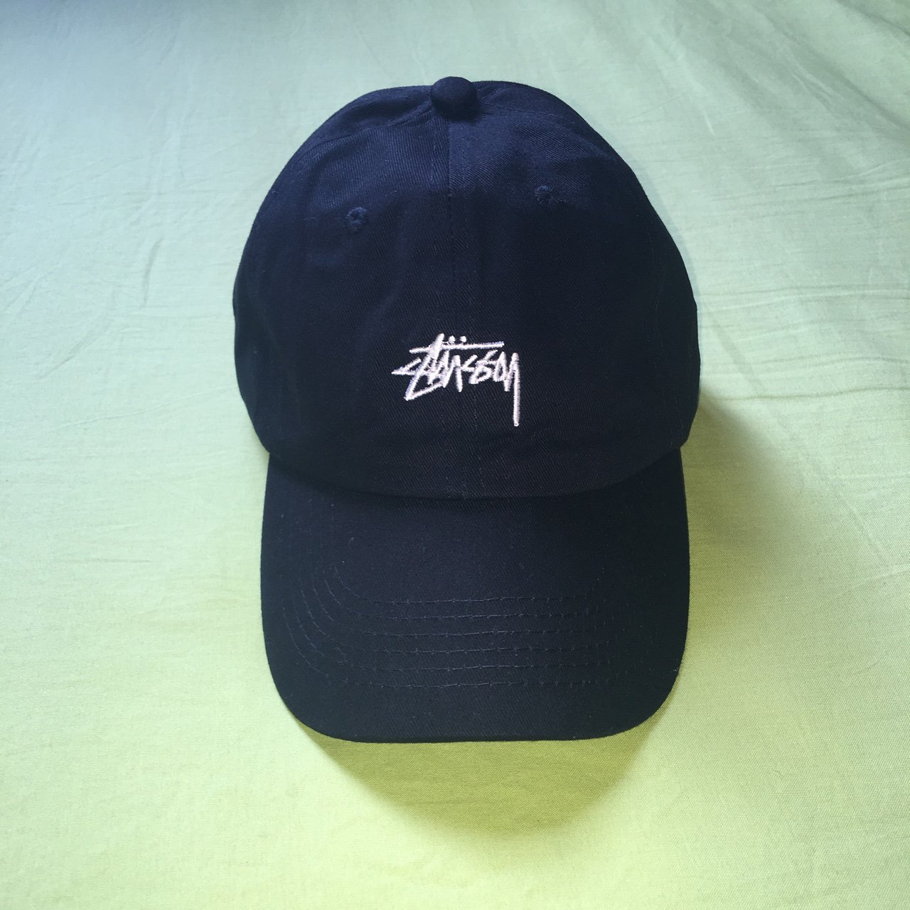 Stussy 6 panel cap in black. Perfect condition never been - Depop 8e9bb0cd0c2