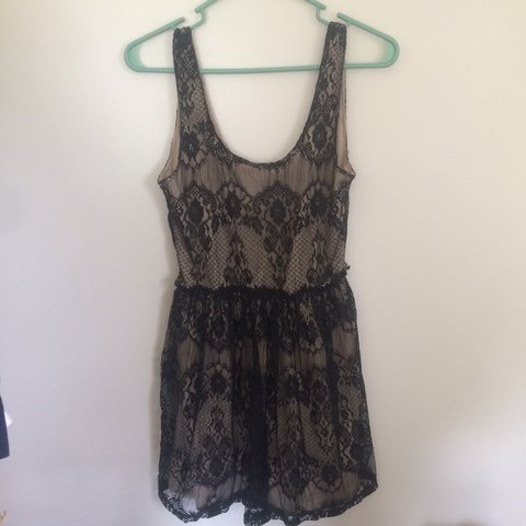Beautiful Black Lace Wet Seal Dress The Size Is Medium But Depop