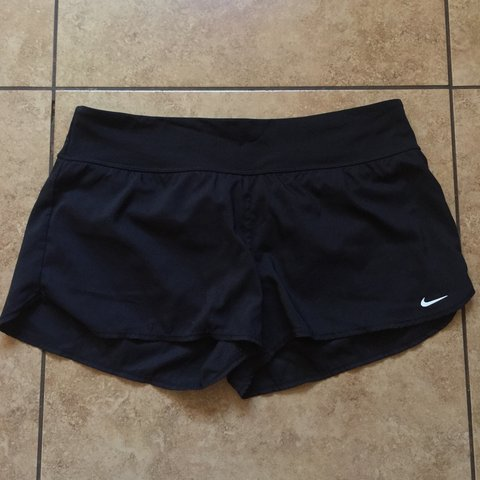 8c74d8645e Black Nike running/swimming shorts. They have built in warm - Depop