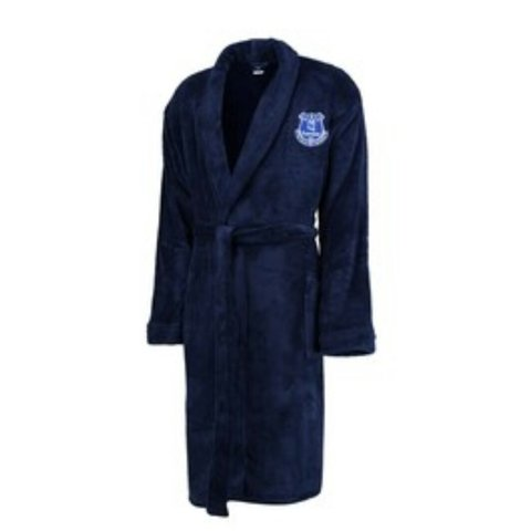 Brand new everton football dressing gown in navy size large. - Depop