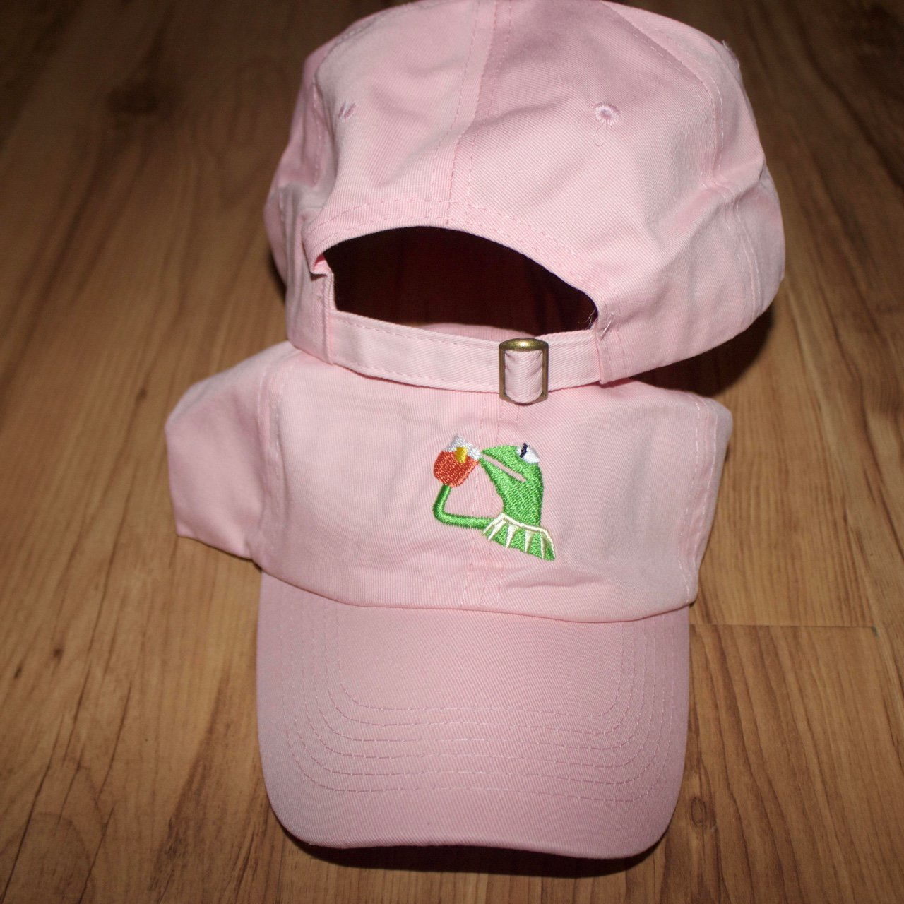 f81fe83e776 Pink Kermit  None of My Business  baseball caps 🐸☕ one for - Depop
