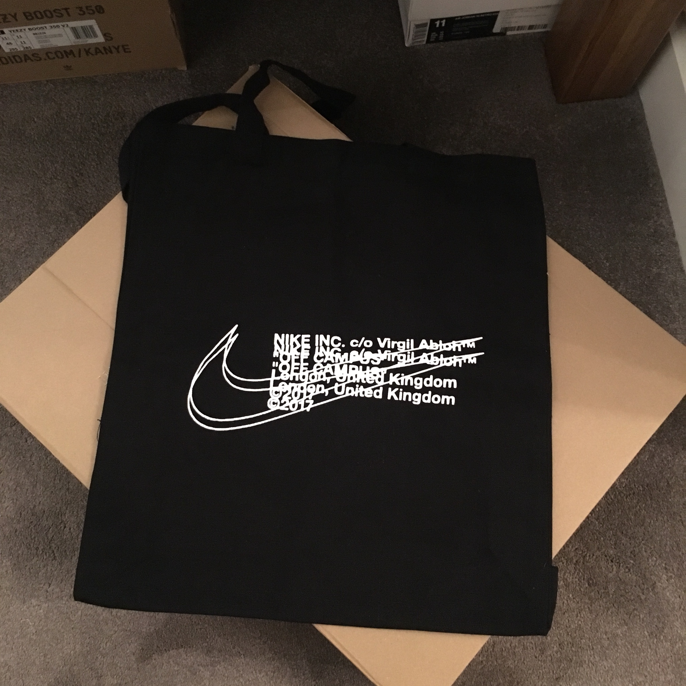 nueva productos calientes venta usa online elige genuino Unused Nike x Off White Tote bag from END clothing... - Depop