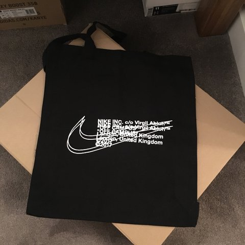 6f58f0cb187b Unused Nike x Off White Tote bag from END clothing pop up in - Depop