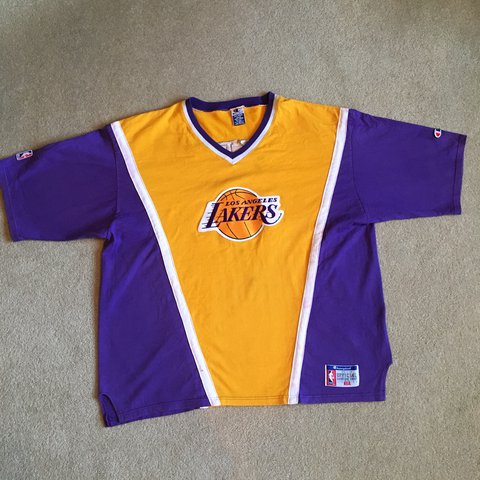 d6225341d29 Vintage 80 s Champion Lakers Warm Up. Size XXL. Check for an - Depop