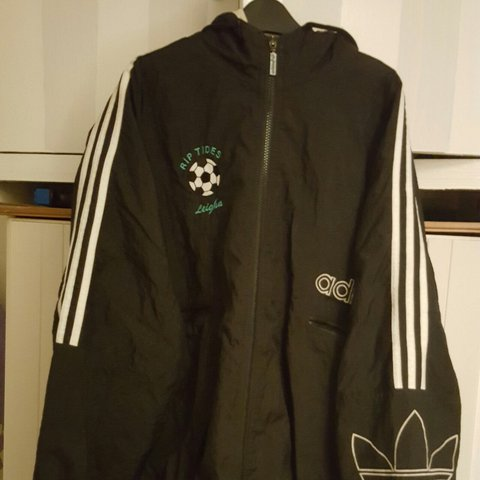 0c62f8999cdc Super rare adidas bomber jacket with personalised badge. one - Depop
