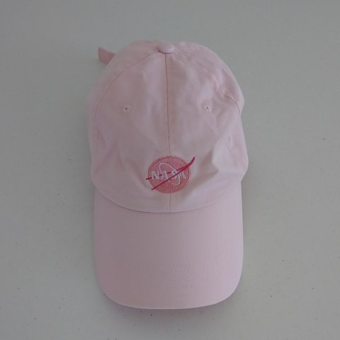 1738d300949 Baby pink NASA dad hat Beautiful condition no defects no in - Depop
