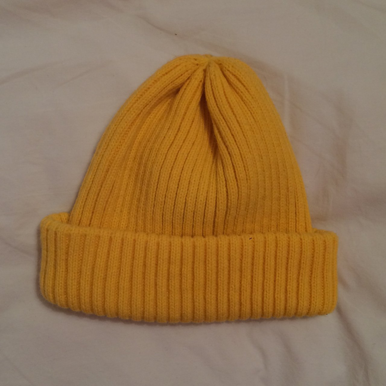 UO YELLOW RIBBED BEANIE 🌼 Urban Outfitters Classic Yellow - Depop 95c5e8d87fb