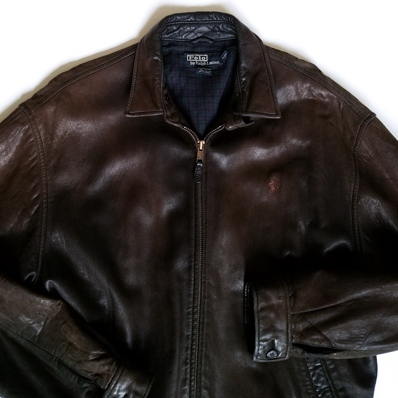 Polo Vintage Brown 90s Ralph Lauren JacketDepop Leather 8wO0mNnv