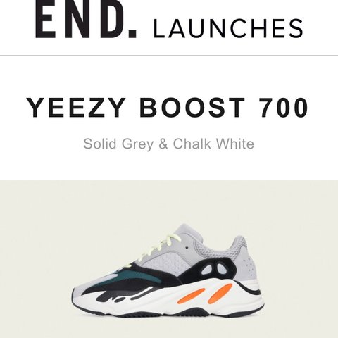 ba2f22aa05613 Adidas Yeezy Boost 700 Waverunner UK 5.5 Brand new with box - Depop