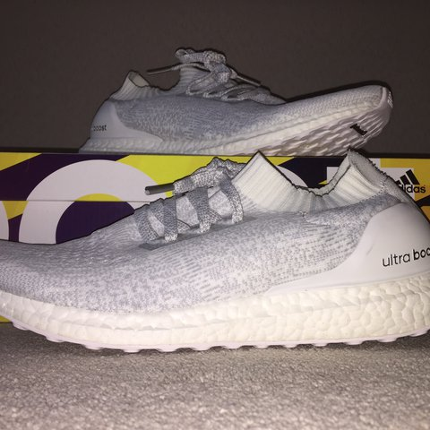 9f790f1a02831 Adidas Ultra Boost triple white Uncaged (ub)
