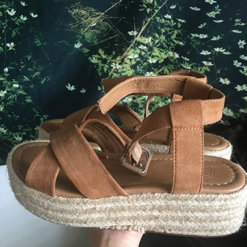 5db727f1741 The Cora platform espadrille sandals from Urban Outfitters. - Depop