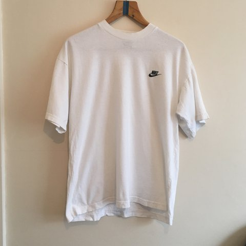 31ff2054 @mvp_clothing. 2 years ago. Timperley, United Kingdom. Vintage Plain White  Nike tee \ small hole on right arm ...