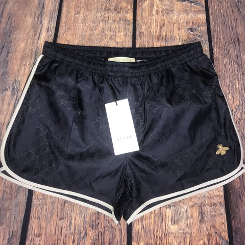 f2243c5a78 @jkellard. last year. Hornchurch, United Kingdom. Gucci GG signature bee  swim shorts