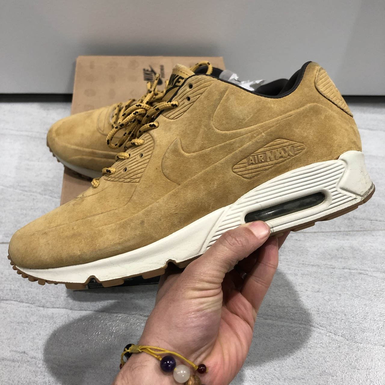 Air Max 90 VT PRM QS. One piece, brushed suede (they