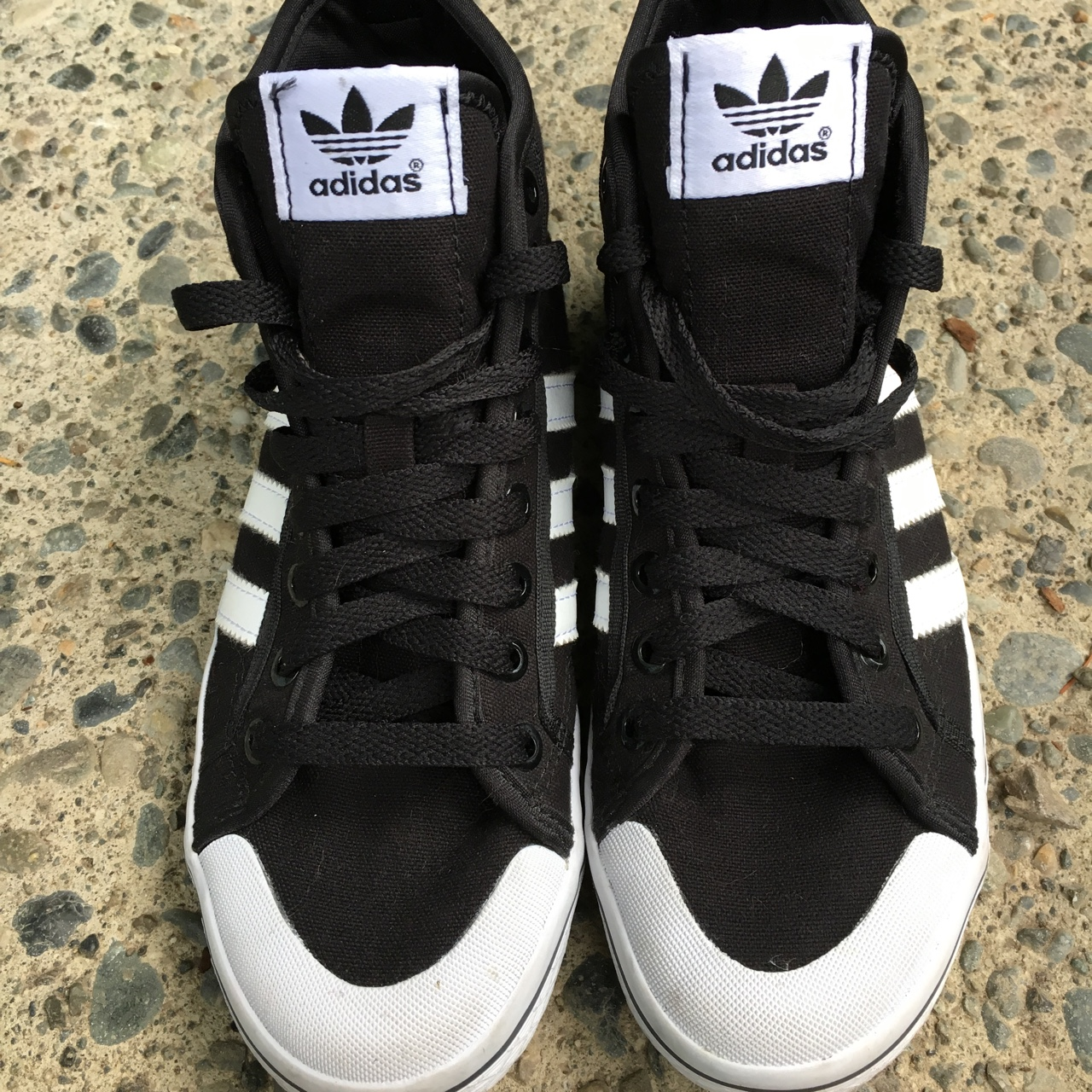 Adidas High Tops Black and White. Women