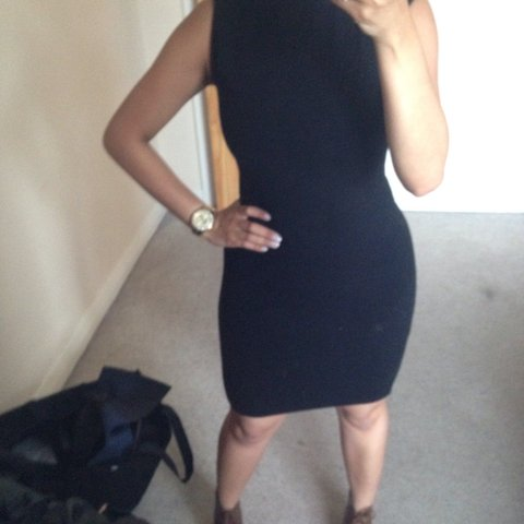0e78500b @madapereira. 4 years ago. Northolt, Greater London, UK. Zara black turtle  neck dress ...