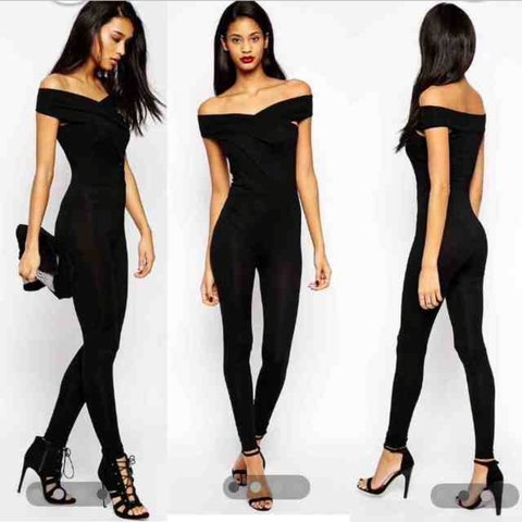 9695b59184 ASOS BODY FIT UNITARD JUMPSUIT PLAYSUIT ALL IN ONE - OFF THE - Depop