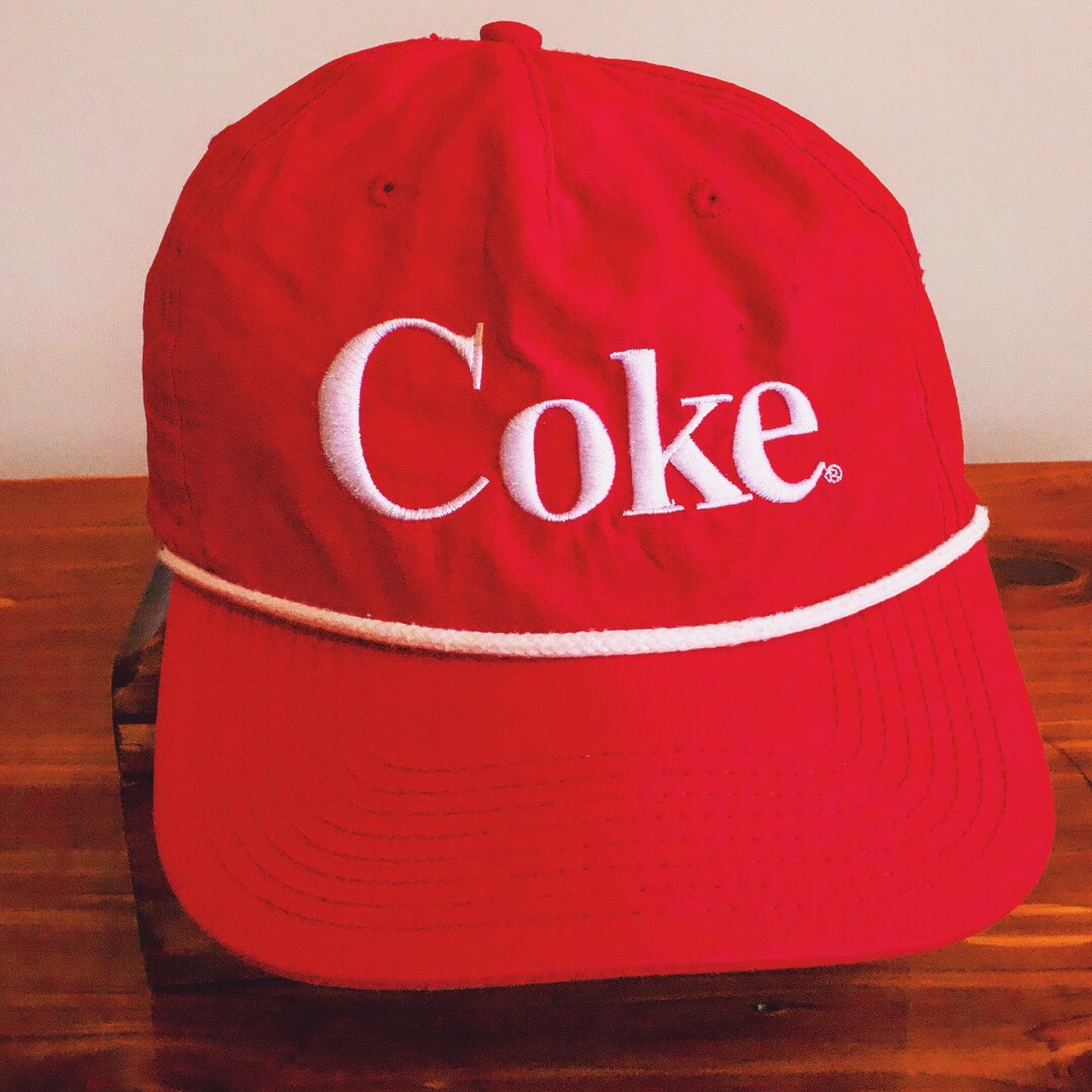 8540b0b0851 90s Coca-Cola SnapBack. Has a couple small black spots on - Depop