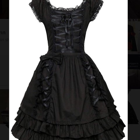 fbe9d53b1de Black Lolita dress from amazon! Bought for £40. Bought for a - Depop