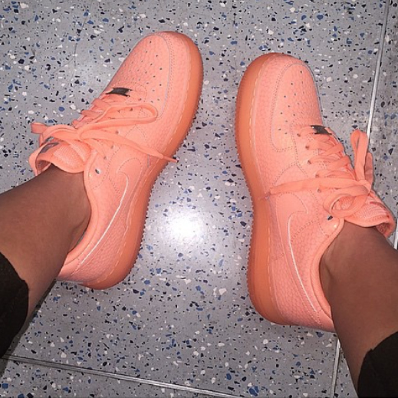 Nike Air Force Ones limited edition 'sunset glow' Depop