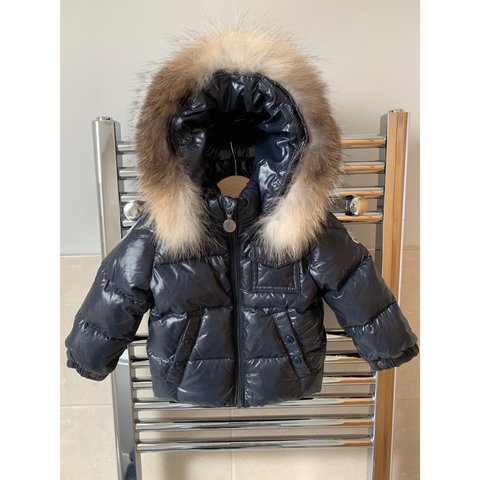 c5925383d Baby Moncler K2 down padded jacket. Navy with detachable but - Depop