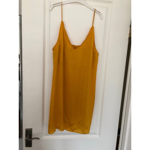 94bbc4b96bc2 @jessicasenior96. 8 months ago. Barnsley, United Kingdom. Topshop mustard  satin slip dress ...