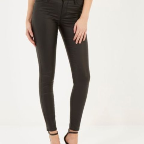 37f32358120c8 @claireoliver01. 4 years ago. London, United Kingdom. River Island Black  Leather Look Trousers ...