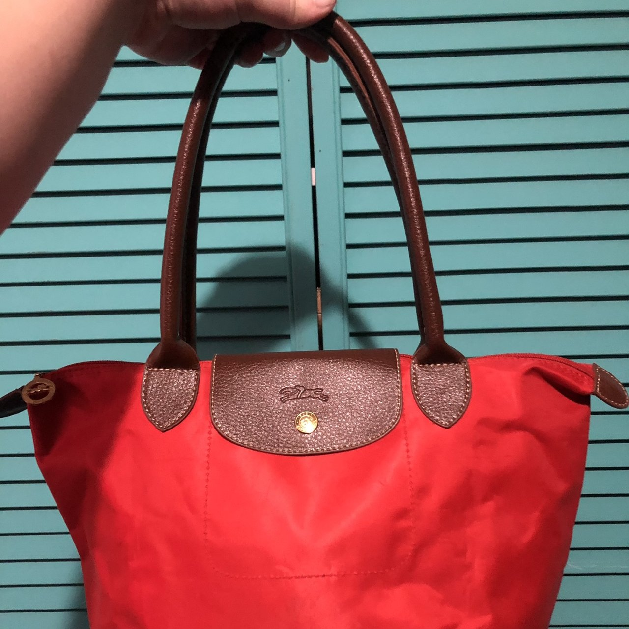 Red Longchamp bag (NOT REAL)  Good Quality   Beautiful Bag   - Depop c4f2a178db373