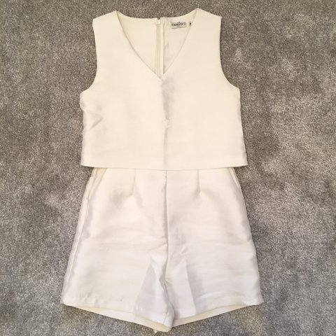 916a254d28 In The Style White Playsuit Realy Nice Worn Once Size - Depop