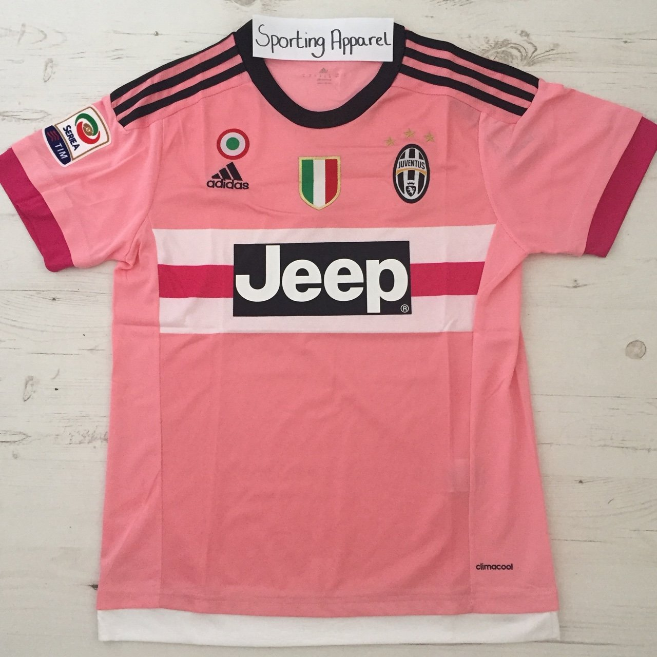 sportingapparel. 2 years ago. United Kingdom. Juventus 15 16 Away Kit in  Pink. 4a44fad21