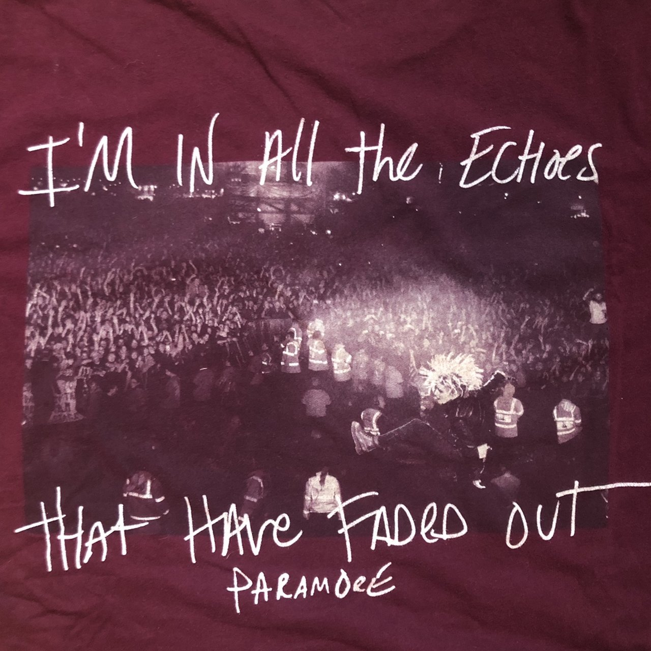 b68e1d9ae17 PARAMORE ECHOES TOUR TSHIRT - SIZE MEDIUM bought on the a - Depop