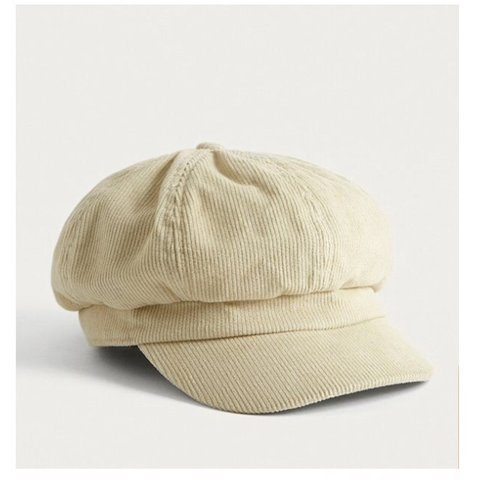 c4660bedfb6 URBAN OUTFITTERS Beige Baker boy hat BRAND NEW (with - Depop