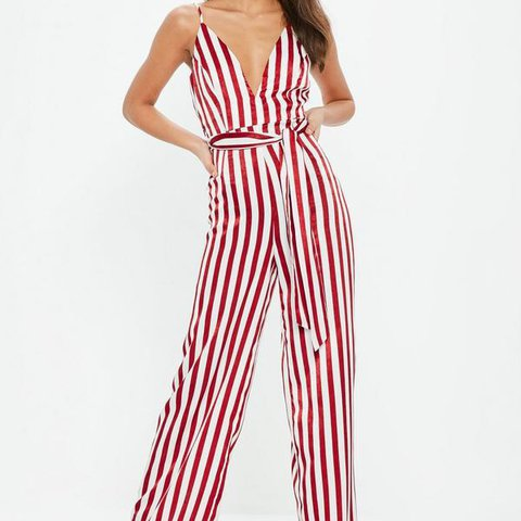 f53de59ca05 Missguided satin red and white- 0