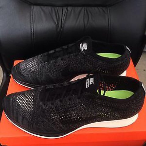 on sale 63b2b 6e901 NIKE NIKELAB FLYKNIT RACER BLACKOUT KNIT BY NIGHT NEW SZ 8.5 - Depop
