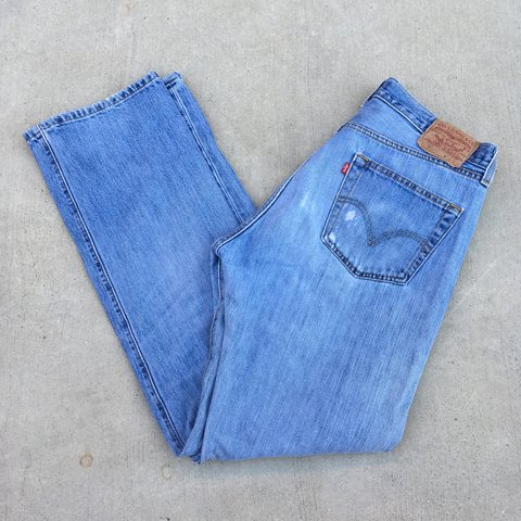 Levi's Strauss 501 distressed jeans | Loose style | Depop
