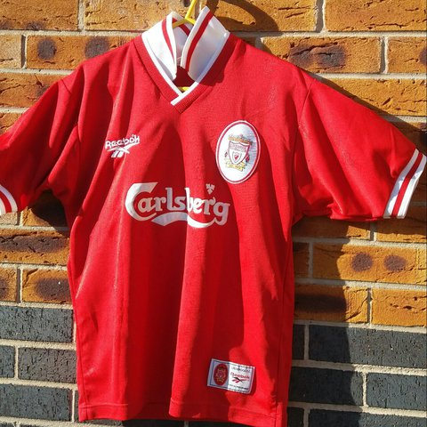 5dbe4f9db9a @marccass. last year. Greenfield, Holywell, United Kingdom. Vintage  Liverpool FC home shirt from 95/96 ...