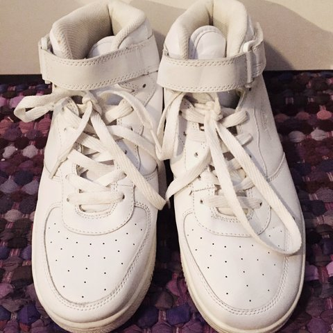 e0decf2143 FUBU white high top sneakers. Inside says girls 10. to 8 - Depop
