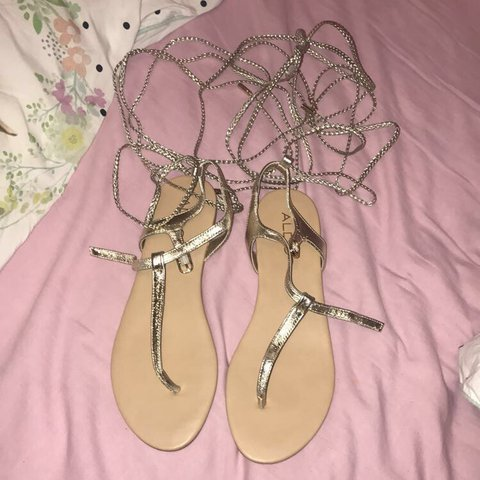4264883d0656 Aldo unworn lace up sandals Ignore  asos  lounge  topshop - Depop