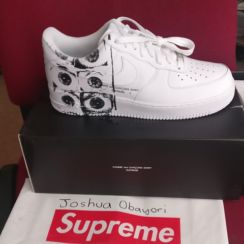 Supreme x CDG X Nike Air Force 1 size US 9.5 UK 8.5 for new - Depop 3cdd01e96