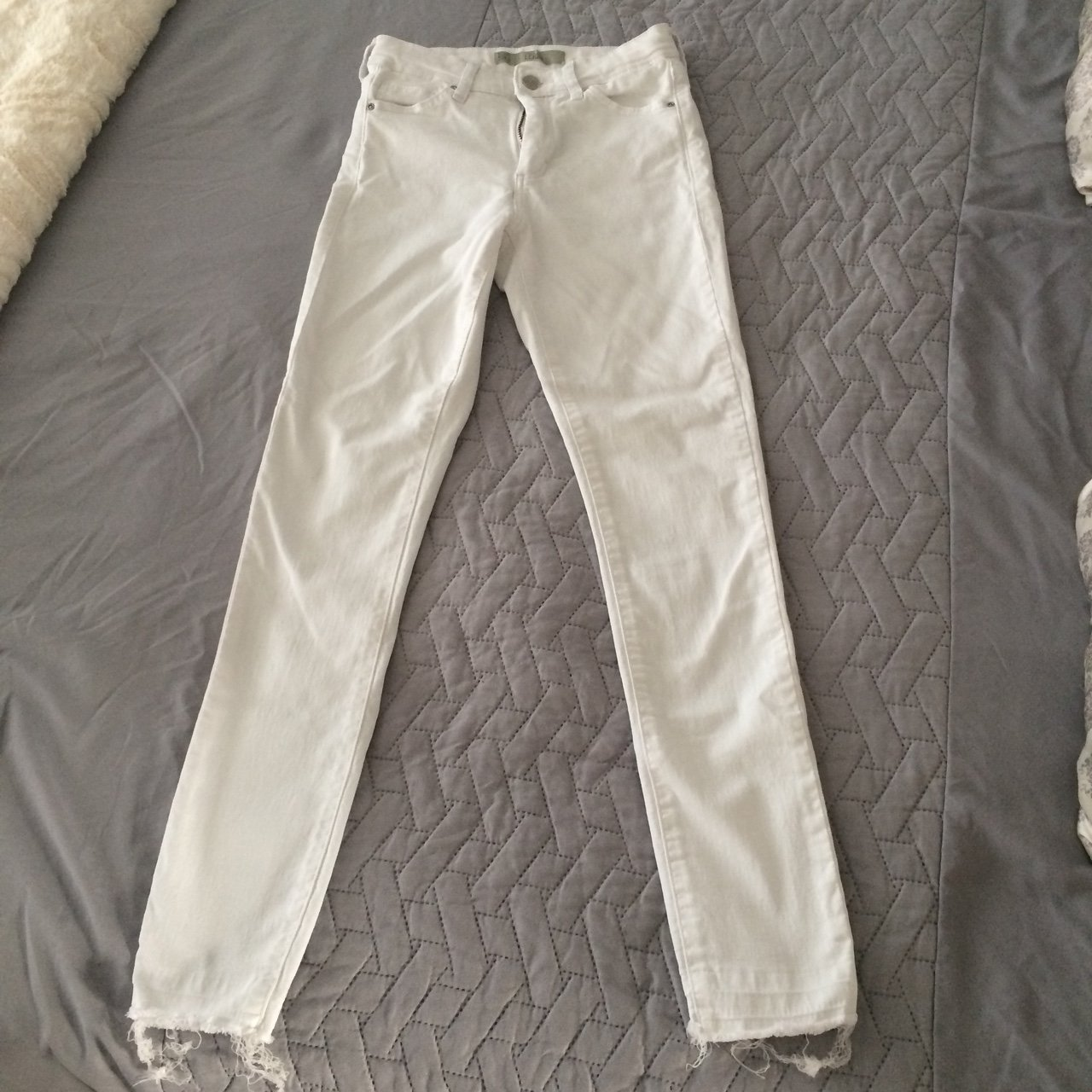 78a3d29036c Topshop Leigh white Skinny Jeans.
