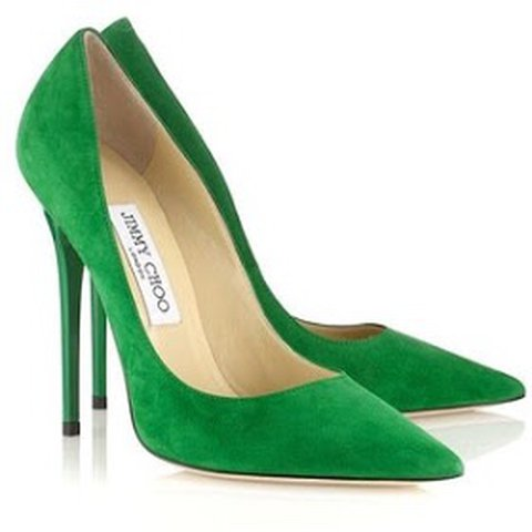 3bc8f9b0b Reduced Jimmy Choo Womens Anouk Emerald Green Suede Shoes - Depop