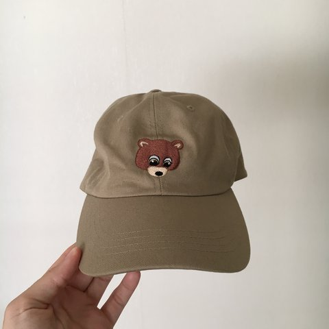 12576b4abfed6 Kanye s iconic dropout bear on a dad hat