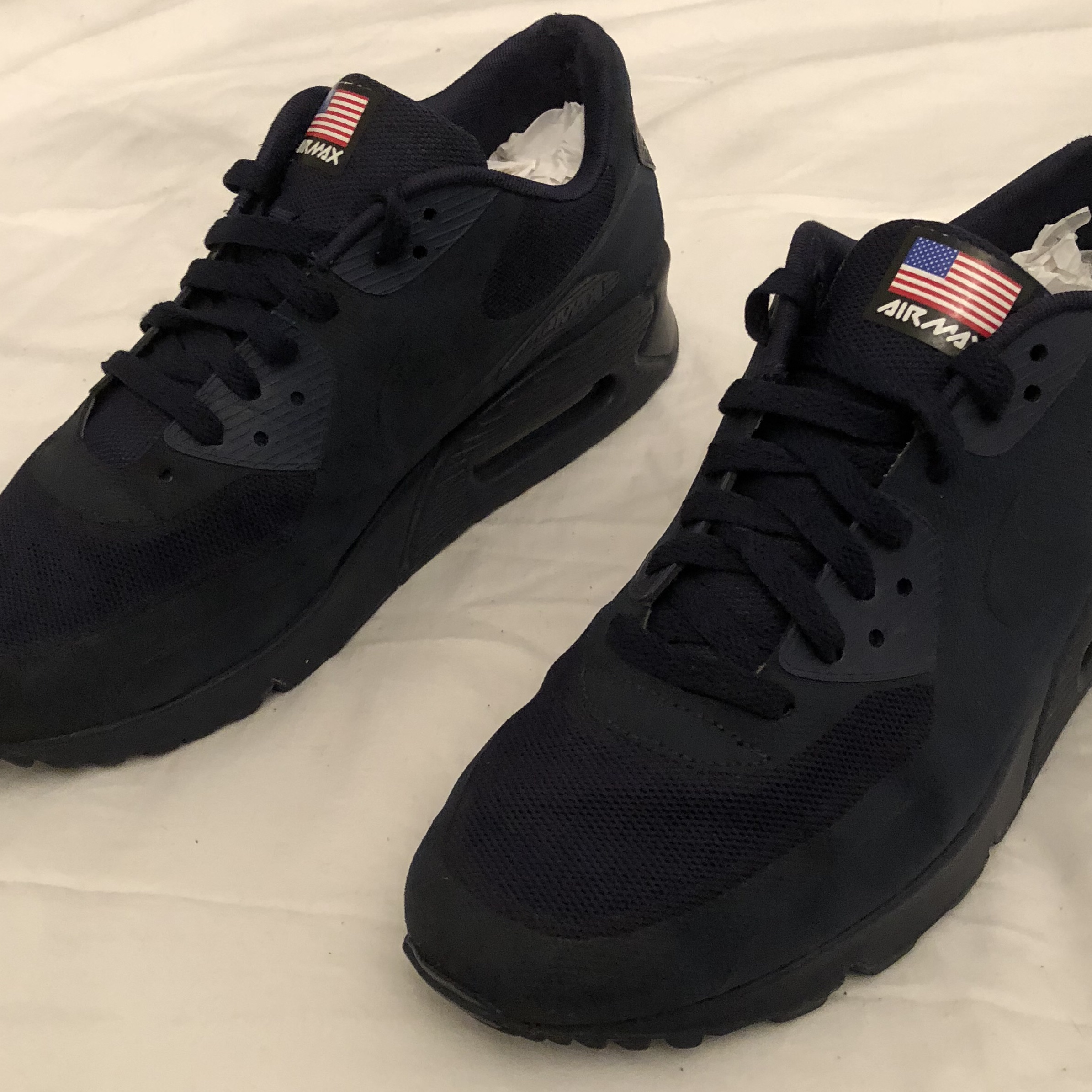 Nike Air Max 90 Hyperfuse Independence Day Navy Depop