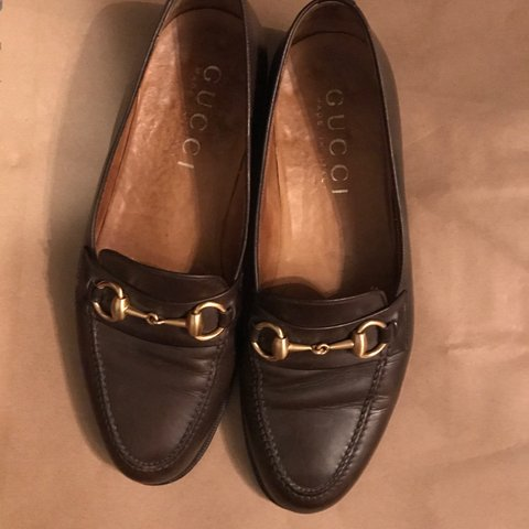 3ffc8acf4d7 Men s brown leather Gucci loafers. 7 1 2 D (Women s size 9) - Depop