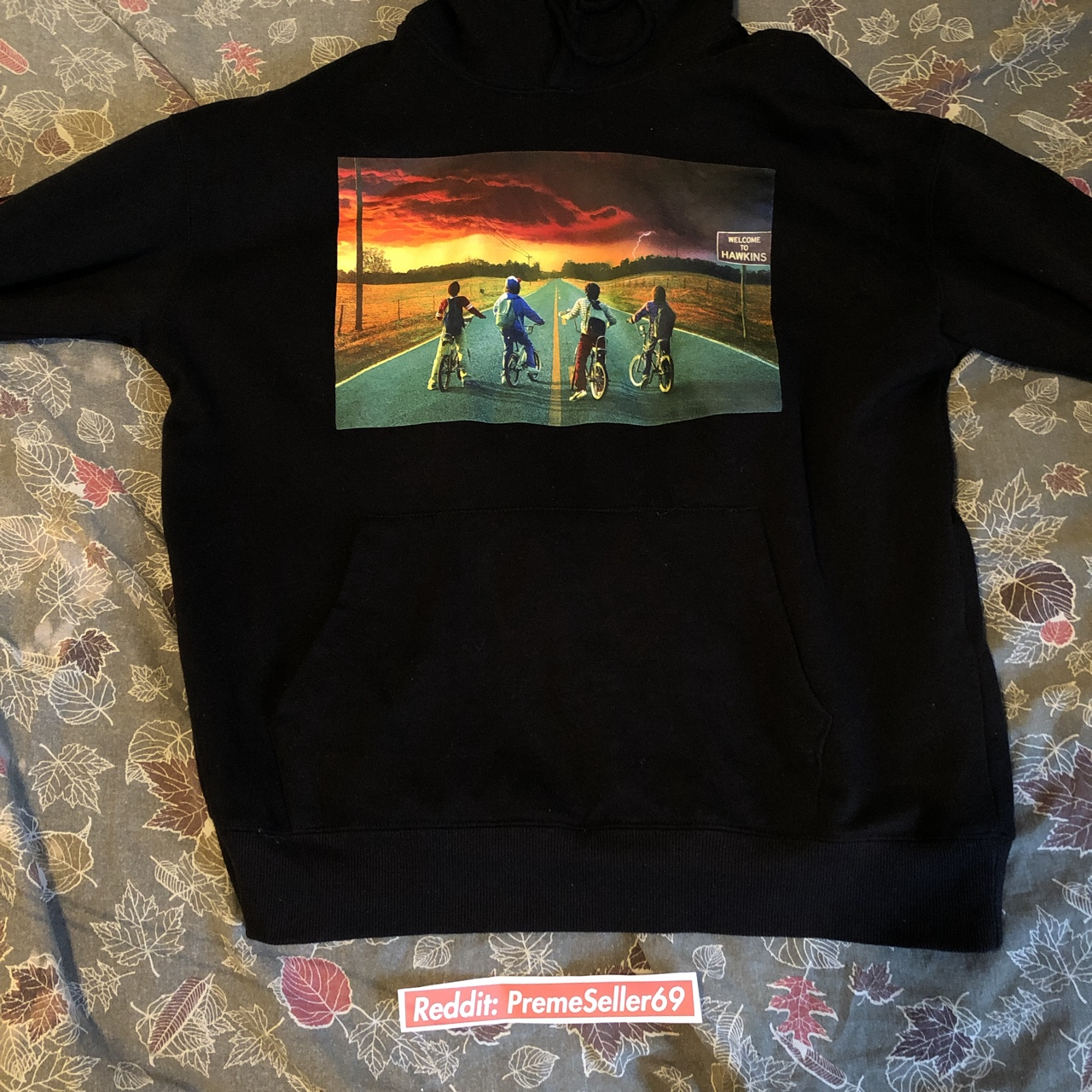 58a43b7d5151 This is a stranger things hoodie from forever 21.... - Depop