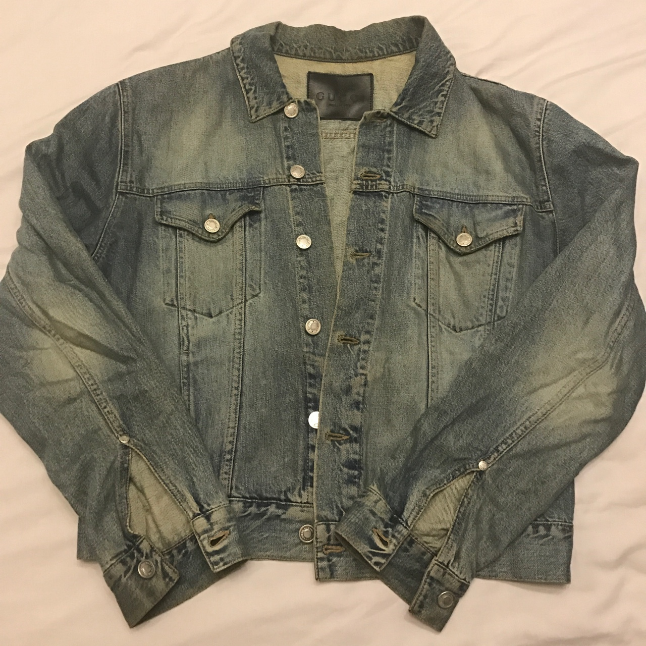 6f29b2c63 naji1002. London, United Kingdom. Vintage Gucci Denim jacket ...