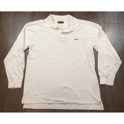 bda786aa6 @frediculous. last year. United States. Vintage Guess Long Sleeve Polo  Rugby Shirt ...