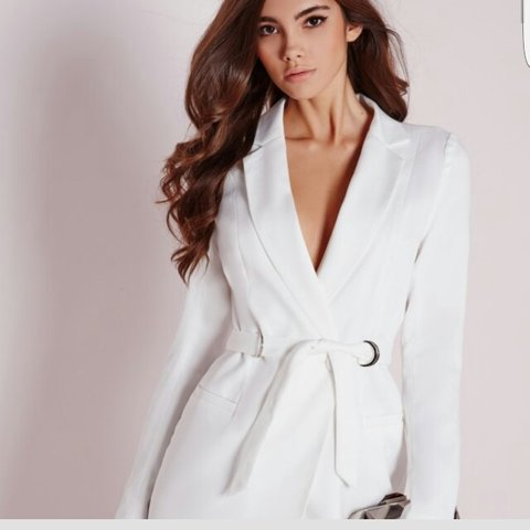 c8c8ae60e78 Missguided white D ring blazer dress. SIZE 12 New!! Only to - Depop