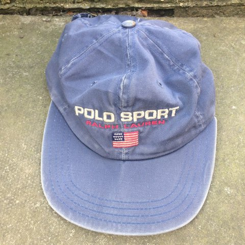 Vintage Ralph Lauren Polo Sport Cap. Real Distressed Look. - Depop 292d12502b03